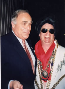 Billy as Elvis with Pennsylvania governor Rendell